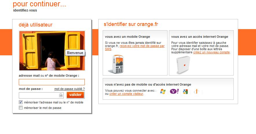 orange messagerie fr